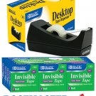 "Bazic Desktop Tape Dispenser and 12 Rolls of 3/4"" x 1000"" (Matte) Invisible Tape"