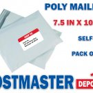 100 Poly Mailers, 7.5 in x 10.5 in, Polyair Fastpak Envelope, Polyethylene Bags