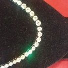 Ashanti's 18 inch Round Cut Black and White Graduated CZ Tennis Necklace