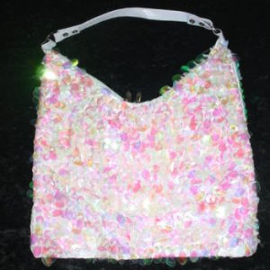 LRG Oval Sequined Purse