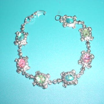 Turtle Paua Shell Bracelet