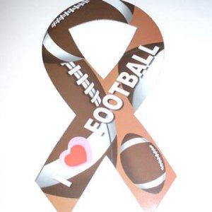 I Love Football Car Magnet