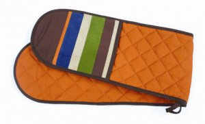 Designer Double Oven Glove (Brown) APPROX £10.99 (FREE UK SHIPPING)