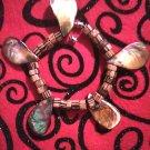 Shell & bead bracelet