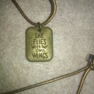 """She Flies With Her Own Wings"" necklace"