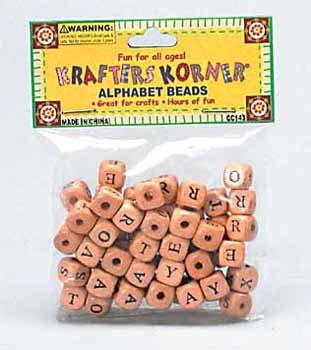 Wholesale Alphabet Beads