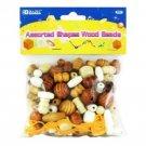 Wholesale BAZIC Assorted Shapes Wood Beads