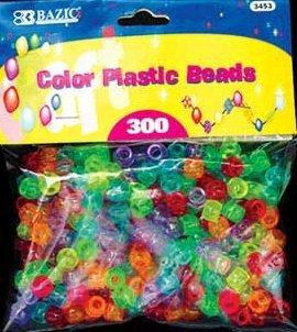 Wholesale BAZIC Multi-Color Plastic Beads (300/Pack)