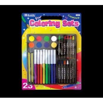 Wholesale BAZIC 23 Piece Coloring Sets