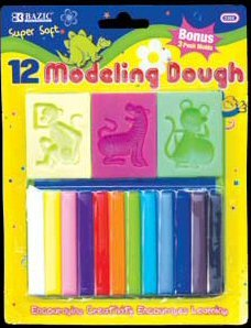 Wholesale BAZIC 12 Modeling Clay Sticks
