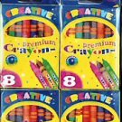 Wholesale BAZIC 8 Color Premium Quality Crayon (4/Pack)