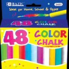 Wholesale BAZIC Assorted Color Chalk (48/Box)