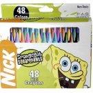 NEW! Wholesale Sponge Bob 48pk Mini Crayon in Window Box
