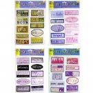 Wholesale 10-Piece Jumbo Scrapbooking Stickers