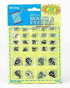 Wholesale 28 piece Hooks & Eyes