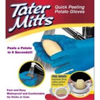 NEW! Wholesale Tater Mitts Quick Peel Potato Gloves + Bonus