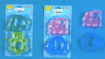 Wholesale 2 Pk Soft Water Teethers In Assorted Shapes