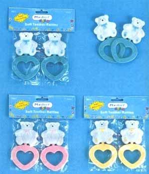 Wholesale 2 Pk Bear Teethers