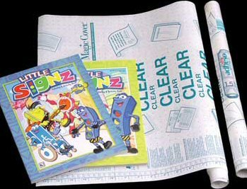 """Wholesale 18"""" X 4.5 Ft. Clear Self Adhesive Book Cover"""