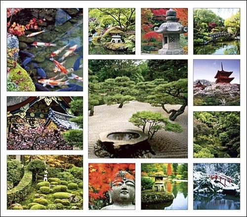 Asian Gardens Calendar with Bonus