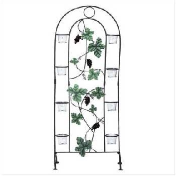 Metal Grapevine Candle Screen