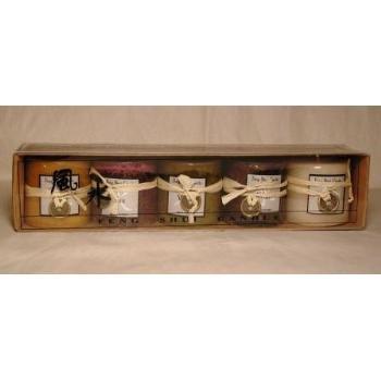 "Wholesale 5 Pc 2"" x 2"" Feng Shui Candle Set HOT SELLER!!"