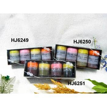 Wholesale 4 Pack Tri Colored Scented Votives