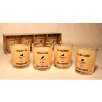 Wholesale 4 Pc Glass Votive Candle Set - Unscented