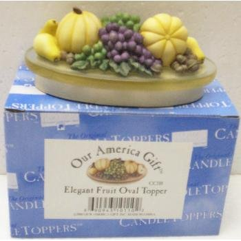 "Wholesale 3"" Elegant Fruit Oval Candle Topper"