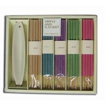 Wholesale 40 Pc Large Incense Set w/ Ceramic Holder