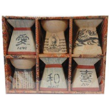 Wholesale FengShui Oil Burners Gift Set- 6 Pack