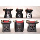 Wholesale Ceramic Oil Burners (Black/Red) - 6 Assorted