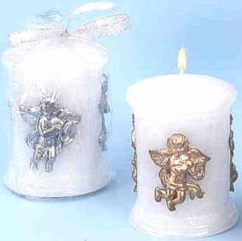 Wholesale Angel Decorated Pillar Candles