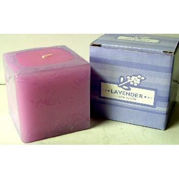 Wholesale Lavender Cube Candle