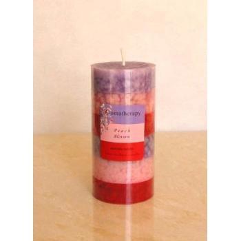 Wholesale Peach Blossom Pillar Candle