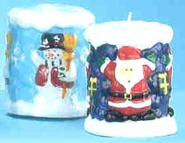 Wholesale 3D Christmas Candles 2 Assorted Styles