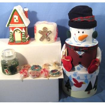 Wholesale Large Snowman Holiday Fragrance Set 14 piece asst