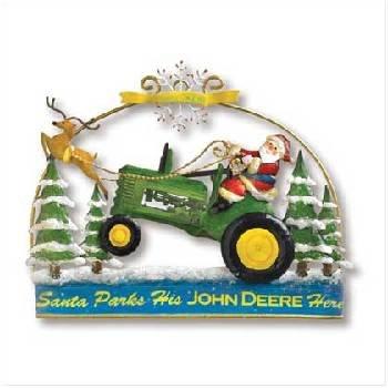 Wholesale John Deere Santa Door Hanger