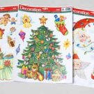 Wholesale Christmas Window Clings with Glitter