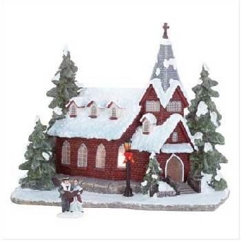 Wholesale Christmas Lighted Church
