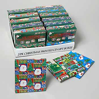 Wholesale Christmas Printed CD Gift Boxes