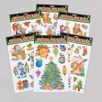 Wholesale Christmas Shining Laser Stickers