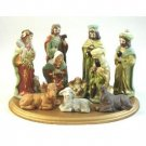 Wholesale 10 Pc Nativity Set w/ Wooden Base