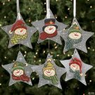 Wholesale Glass Star Painted Snowman Ornaments