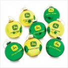 Wholesale John Deere 8 Pc Ball Ornaments