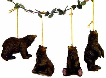 "Wholesale 4 1/2"" Bear Ornament, 4 Asst."