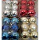 NEW! Wholesale 6pk Round Bulb Ornament Assortment