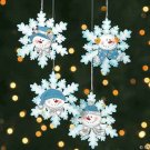 Wholesale Resin and Glitter Snowman Snowflake Ornaments