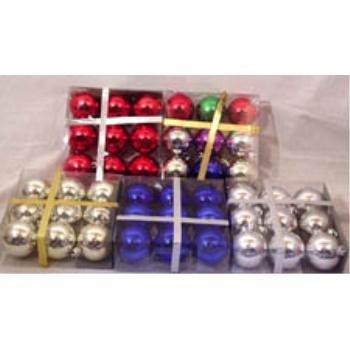 NEW! Wholesale 9pk Round Bulb Ornament Assortment