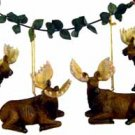 Wholesale Moose Ornament, 4 Asst.